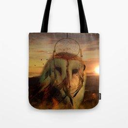 Dream Catcher and Magic Owl Tote Bag