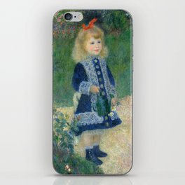 Pierre-Auguste Renoir A Girl with a Watering Can iPhone Skin