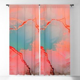 BETTER TOGETHER - LIVING CORAL by MS Blackout Curtain