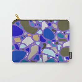 Blue Terrazzo Pattern Carry-All Pouch