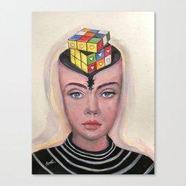 Logic or Heart Canvas Print