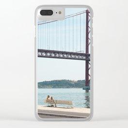 Jackie Lisbon Clear iPhone Case