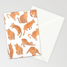 Cat Poses Stationery Cards