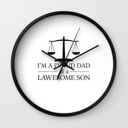 Father and son | Lawyer Attorney Law Job Gift Idea Wall Clock