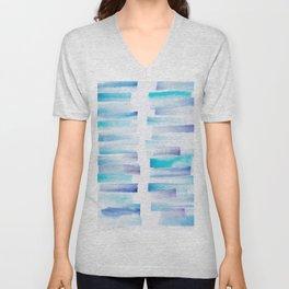 7 | 181101 Watercolour Palette Abstract Art | Lines | Stripes | Unisex V-Neck