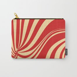 Movement in Red and Cream II Carry-All Pouch