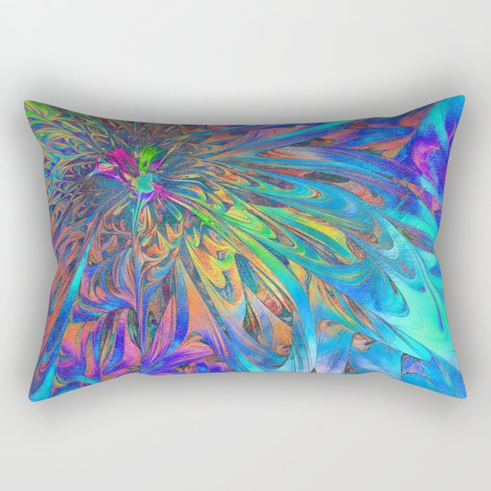 Petal Fall Rectangular Pillow