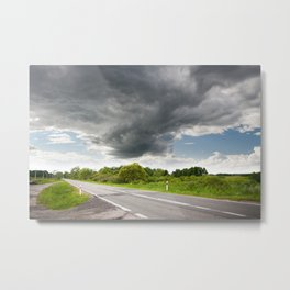 Biebrza road landscape Metal Print