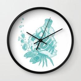 CAPTAIN HERMIT CRAB Wall Clock