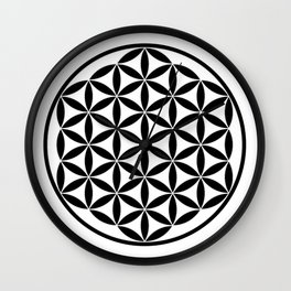 Pure Energy The Flower of Life Wall Clock