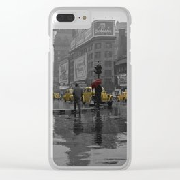 Yellow Cabs New York Clear iPhone Case