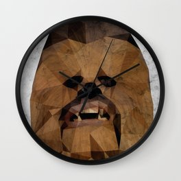 Wookie low poly Wall Clock