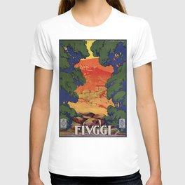 Vintage Italian travel Fiuggi springs T-shirt