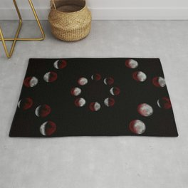 Cycles of Moon { phases of the moon } Rug