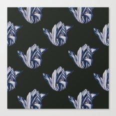 Midnight Tulips in navy Canvas Print