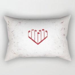 Music Heart gray Rectangular Pillow