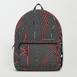 Maze Texture Red Black and White Design Backpack