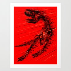 Extinction of a T Rex Art Print