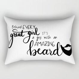 AMAZING BEARD QUOTE Rectangular Pillow