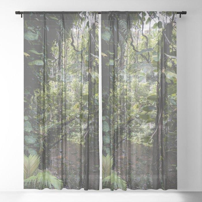 Hidden Jungle River Sheer Curtain