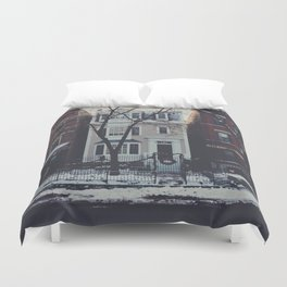 Snowy Chicago Duvet Cover