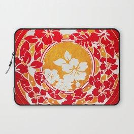 Hawaiian Red Gold Disc Laptop Sleeve