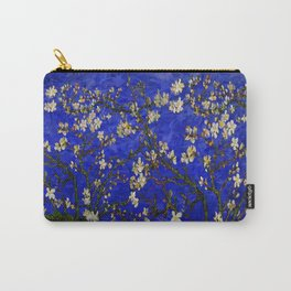 Abstract Daisy with Blue Background Carry-All Pouch