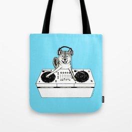 Shiba Inu Dog DJ-ing Tote Bag