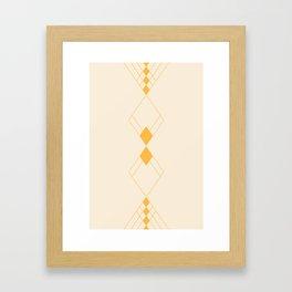 Minimal Geometry - Golden Framed Art Print
