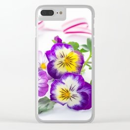 pansy 03 Clear iPhone Case