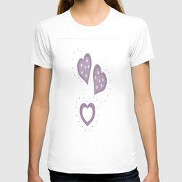 Pretty Lilac Hearts T-shirt