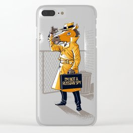 I'm Not a Russian Spy Clear iPhone Case