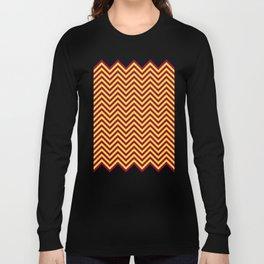 Sunnydale High Chevron (Maroon & Gold - #8A0034 x #FFDC32) Long Sleeve T-shirt