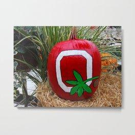 Ohio State Pumpkin Metal Print