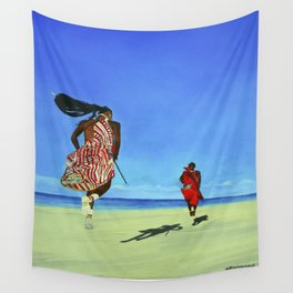 Jumping Happy Togetter Wall Tapestry