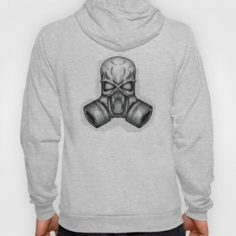 skull in gas mask Hoody