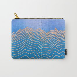 Mountain lines and blue sky - abstract vintage hand drawn illustration Carry-All Pouch