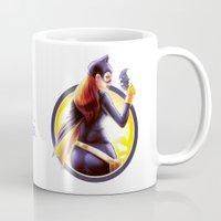 batgirl Mugs featuring Batgirl by kcspaghetti