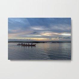 Kayaking at Paradise Cove Metal Print
