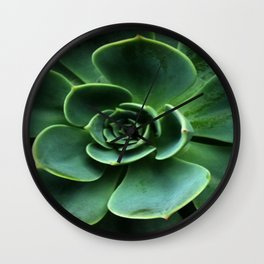GRAY-GREEN CACTUS SUCCULENT ART Wall Clock