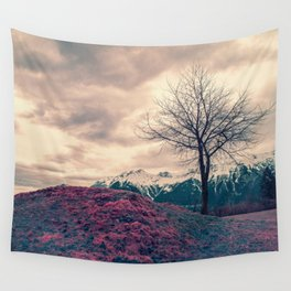 Japanese Mountains Wall Tapestry