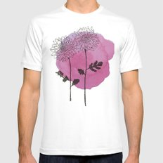 chrysanthemum White MEDIUM Mens Fitted Tee