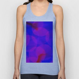 Vibrant Bokeh - Blue and Magenta Unisex Tank Top
