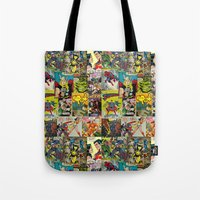 comic book Tote Bags featuring COMIC by Vickn