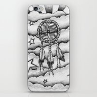 dream catcher iPhone & iPod Skins featuring Dream catcher by DeMoose_Art