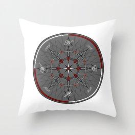 Alice Compass Throw Pillow