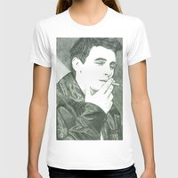 james franco T-shirts featuring Mr Franco by Troy Salmon Art