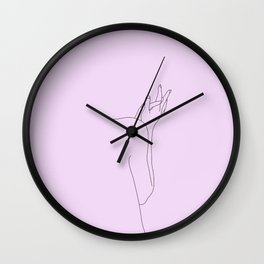 Lilac figure illustration - Jaden Wall Clock