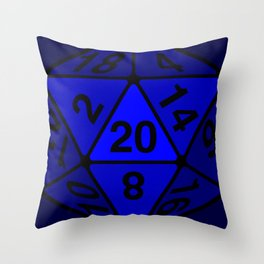 Critical Roll Blue Throw Pillow