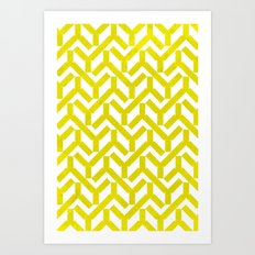 Yellow Geometry Pattern Art Print
